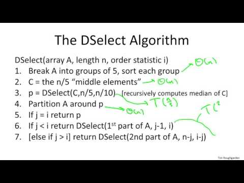 8   4   Deterministic Selection   Analysis I Advanced   Optional 22 min