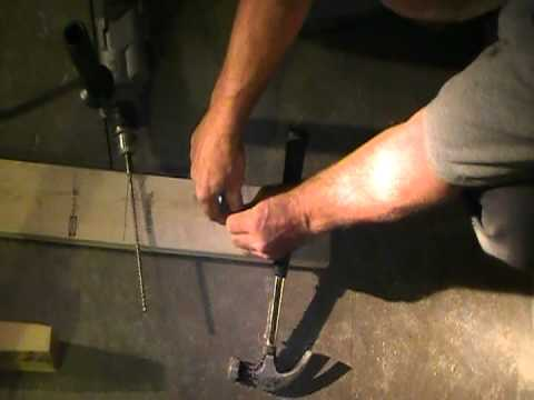 An Easy Way To Anchor A Wooden Wall To A Concrete Floor Youtube