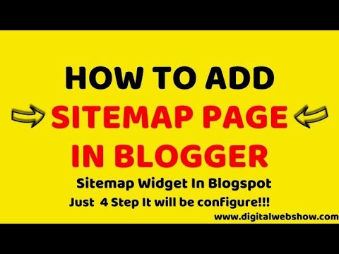 How To Add Sitemap Widget In Blogger Using HTML & CSS Script | Digital Web Show