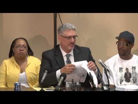 Press conference held by Attorney Michael Padden and the family of Terrance Franklin