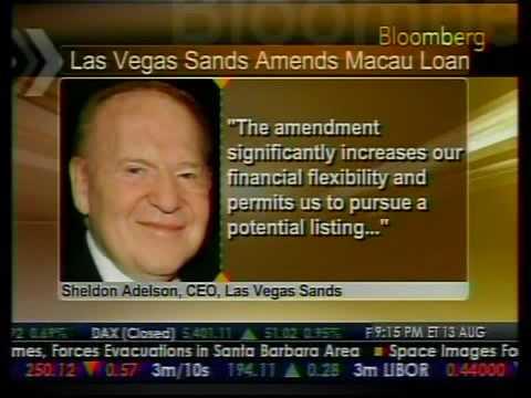 Las Vegas Sands Amends Macao Loan - Bloomberg