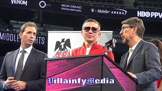 GENNADY GOLOVKIN: HE WASN'T RUNNING BUT THAT DOESN'T MEAN HE WON THIS FIGHT; ABEL GIVES CANELO PROPS