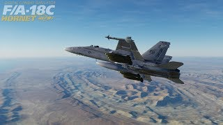 F/A - 18 c Hornet  / DCS World  : My first Successful take off into the Danger Zone