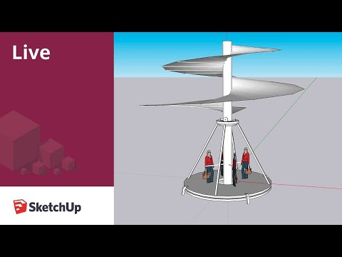 Modeling Da Vinci's Air Screw Live in SketchUp