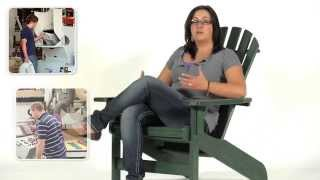 Breezesta's Maintenance Free Patio Furniture - The Forest Green Coastal Adirondack Chair