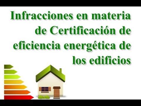 Infracciones en materia de certificación energética
