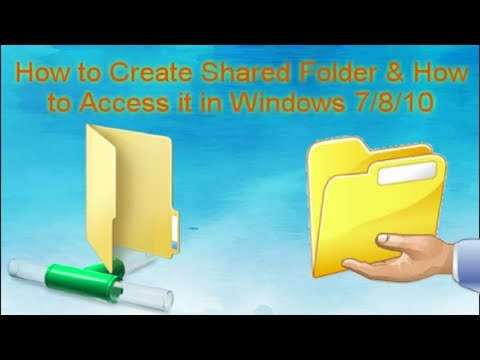 How To Create Shared Folder And How To Access It In Windows 7/8/10 || Tamil