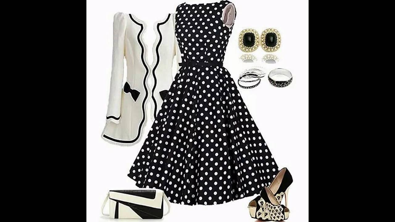 2bbdeb7d7 Outfits con vestidos de lunares