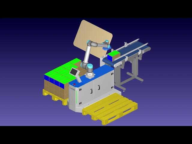 Simulación de #pallcobot con robodk