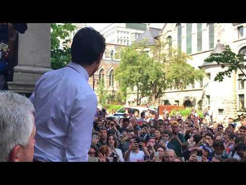 Justin Trudeau meets with McGill students