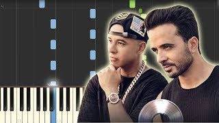 Despacito - Luis Fonsi ft. Daddy Yankee [Piano Tutorial] (Synthesia)