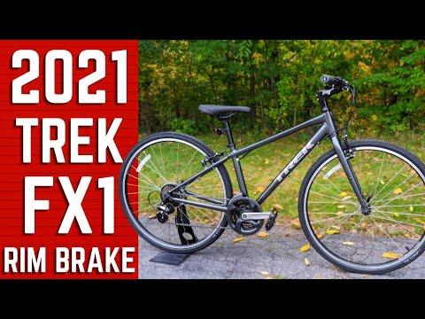 Beginner Trek Hybrid Bike | 2021 Trek FX 1 Rim Brake Fitness Commuter Hybrid Bike Review & Weight