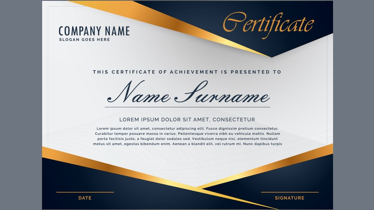 creating a professional certificate design using guides