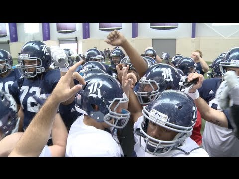 The Rice Owls final practice before the Bell Helicopter Armed Forces Bowl