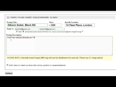 How to Add a Link to Craigslist