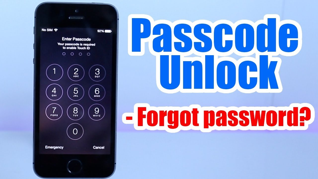 how to remove passcode from iphone how to unlock the passcode of iphone 5s 6s 6 plus 18992