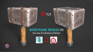 How to Rendering with Wireframe in substance painter. | Quick Tips.