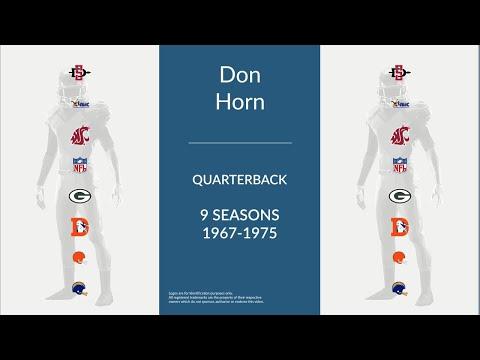 Don Horn: Football Quarterback