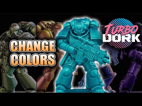 put-the-80's-on-your-miniatures:-turbo-dorks-color-shift-&-metallic-paints-review