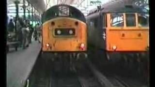 Class 40 181 thrashes out of Manchester Piccadilly light engine after the last Skegness