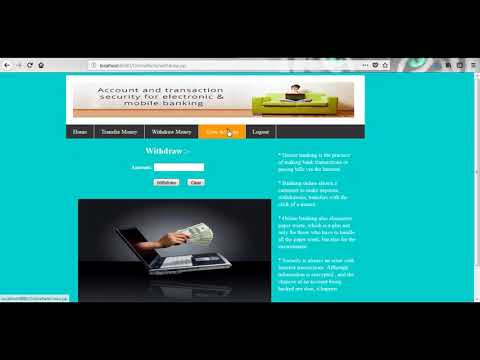 Secure Internet Banking Management System | Student Projects