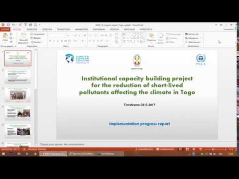 Webinar Togo SLCP Institutional Strengthening project (2016 06 17)