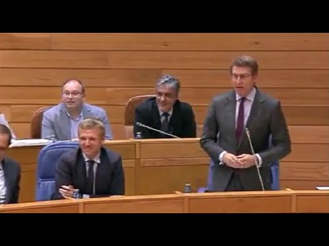 Así foi o incidente entre Feijóo e Pontón no Parlamento