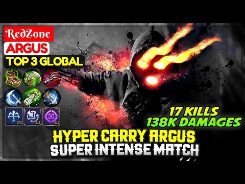 Hyper Carry Argus, Super Intense Match [ Top Global Argus ] RedZone - Mobile Legends