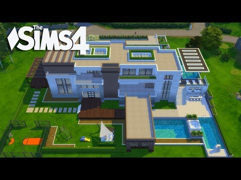 The Sims 4 - Let's Build a Modern Mansion (Part 4) Realtime