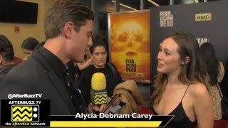 alycia debnam carey interview   fear the walking dead premiere   2016