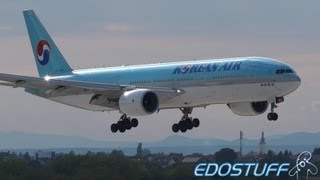Awesome! Korean Air - Boeing 777-2B5/ER HL7734 - Landing at Zagreb airport ZAG/LDZA