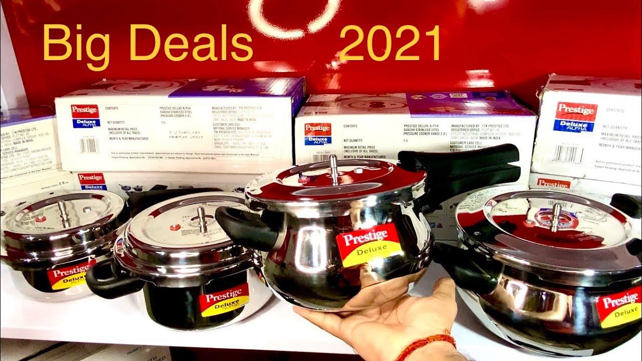 🛍Prestige Steel Cooker Best Deals 2021 | Amazon Prime Day Sale | Prestige Deluxe Alpha Svachh Cooker