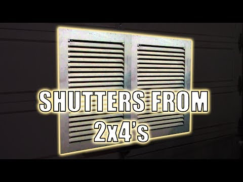 Building a Set of Shutters from 2x4's