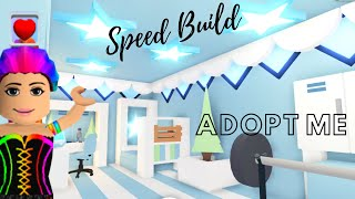 Adopt Me Speed Build | Blue Shining Star Bedroom | Adopt Me Estate House (Adopt Me Building Hacks)