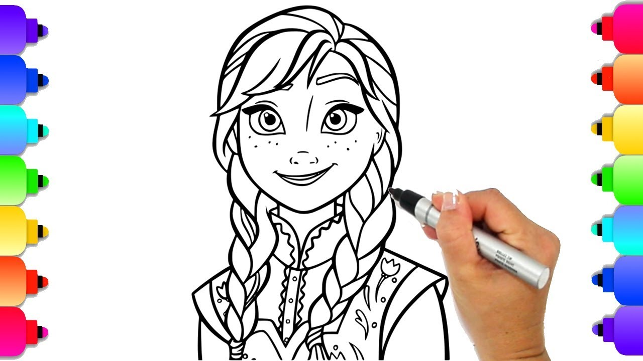 Disney frozen 2 learn to draw princess anna frozen 2 coloring pages