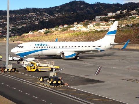 Aviões no Aeroporto da Madeira TAP Portugal Airbus A330, Enter Air, Easyjet, West Air Europe