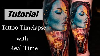 Color Tattoo - Timelapse with Real Time