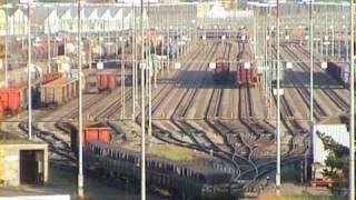 Hump Yard time lapse - Rangierbahnhof im Zeitraffer - Zug, trainfart, train