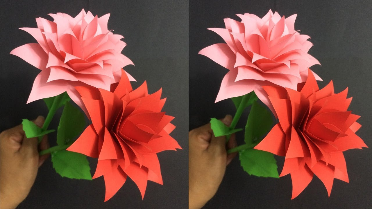 How To Make Rose Paper Flower Making Paper Flowers Step By Step
