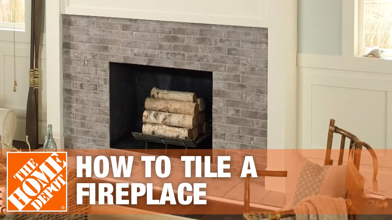 How to tile a fireplace surround and hearth the home - How to make a brick fireplace look modern ...