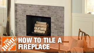 Tile A Fireplace Surround And Hearth, How To Reface A Brick Fireplace With Tile
