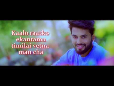 Aakhai Aakhaima Karaoke with Lyrics Compose  & vocal by Damber Khapoong   Lyricist Prakash Ghimirey.