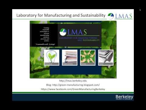 Part 1 - Teaching Sustainable Manufacturing at UC Berkeley