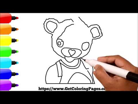 How to Draw Cuddle Team Leader Fortnite