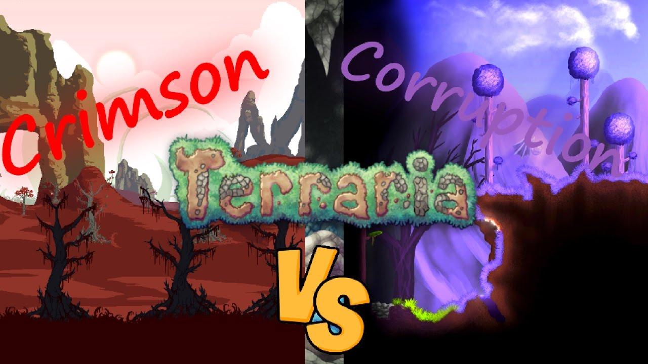 Terraria Comparison|Crimson vs Corruption