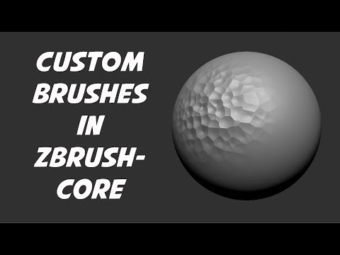 Custom Brushes In ZbrushCore