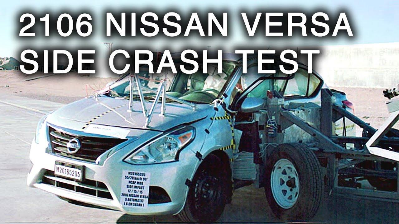 2016 nissan versa crash test side crash youtube. Black Bedroom Furniture Sets. Home Design Ideas