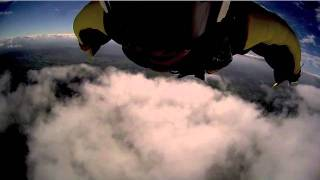 Wingsuit through cloud