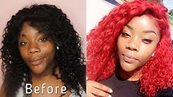 HOW TO: Black to Red wig| WigEncounters| Afforable| For Beginners