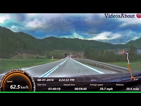 E81/DN7  Pitesti-Sibiu speed/route info (Romania Nadlac-Constanta Pan-European Corridor IV) part 2/2